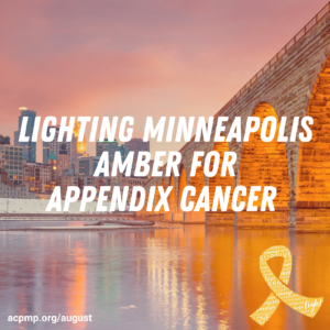 Lighting Cities Amber For Appendix Cancer  - ACPMP 1
